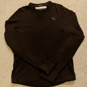 Mens Abercrombie & Fitch Long-Sleeve T-shirt Brown